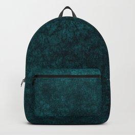 Teal Blue Velvet Texture Backpack