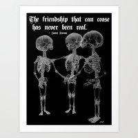 friendship Art Prints featuring Friendship by GLR67