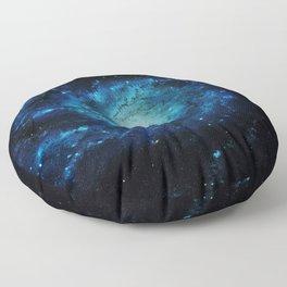 Spiral gAlaxy. Teal Ocean Blue Floor Pillow