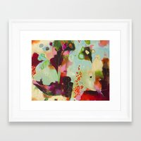 "flora bowley Framed Art Prints featuring ""Deep Embrace"" Original Painting by Flora Bowley by Flora Bowley"