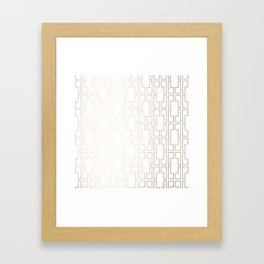 Simply Mid-Century in White Gold Sands Framed Art Print