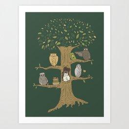 Never Trust an Owl Art Print