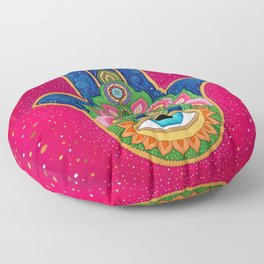 Fatima's hand / Hamsa Floor Pillow