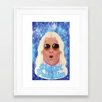 wwe Framed Art Prints featuring Woooooo Flair  WWE by whodunit27