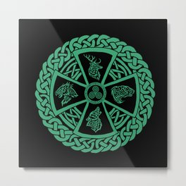 Celtic Nature Metal Print