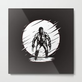 Logan Glitch art Metal Print