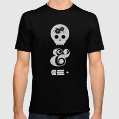 think&draw Black SMALL Mens Fitted Tee