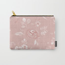 Stephanie Floral - Pink Carry-All Pouch