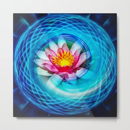 Wellness Water Lily Metal Print