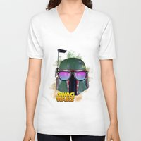boba fett V-neck T-shirts featuring Boba Fett by Heretic
