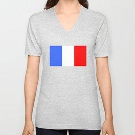 Drapeau français Unisex V-Neck