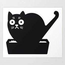 Surprised cat! Art Print
