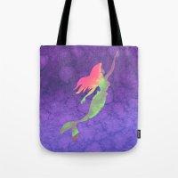 ariel Tote Bags featuring Ariel  by foreverwars