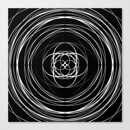 Black White Swirl Canvas Print