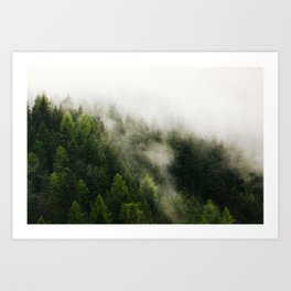 Val Gardena - The Fog Art Print