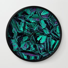 Green Leather Skin Distortion Wall Clock