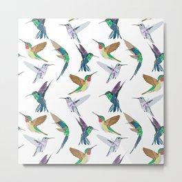 Hummingbirds in Flight Metal Print
