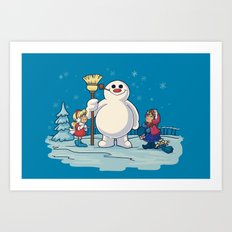 Let's Build a Snowman! Art Print