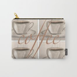 Cups of Coffee Carry-All Pouch