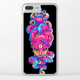 Tentacle Demoness (PINK version) Clear iPhone Case