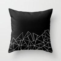 Ab Peaks Throw Pillow