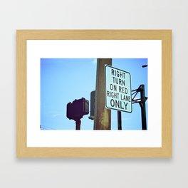 Right Line Framed Art Print