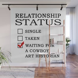 Waiting for a Cowboy Art Historian Wall Mural