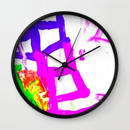 Ladders To The Sky Wall Clock