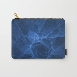 Abstract blue pattern Carry-All Pouch