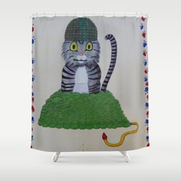 Grenade Kitty Shower Curtain