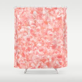 LIVING CORAL - PETITE FLORAL DESIGN Shower Curtain
