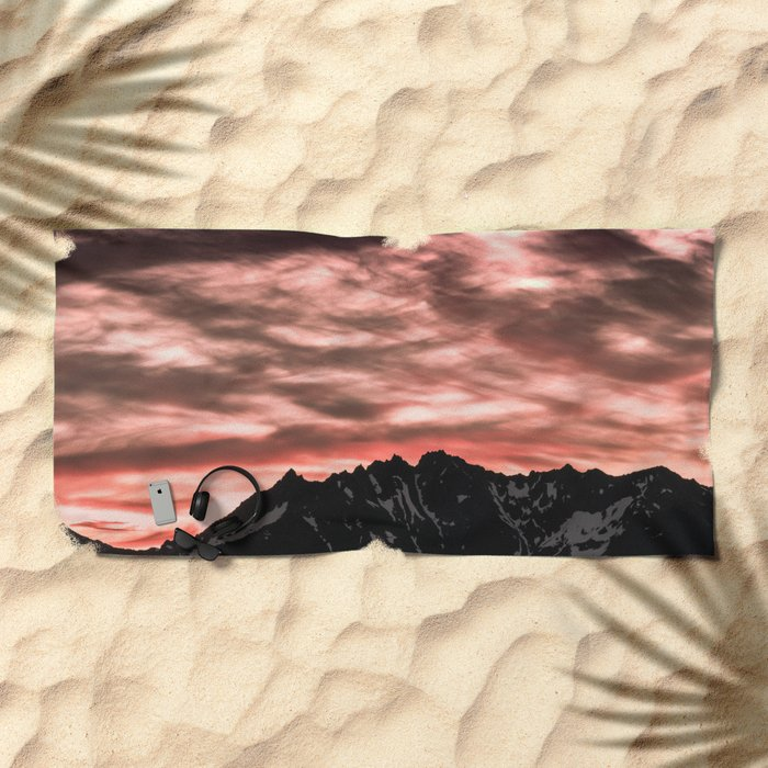 Early Morning Mountains Beach Towel