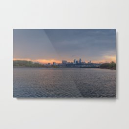 Stormy Morning at KAW Metal Print