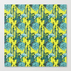 Jamaican Botanicals - Green Canvas Print