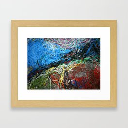 Wire Abstract Framed Art Print