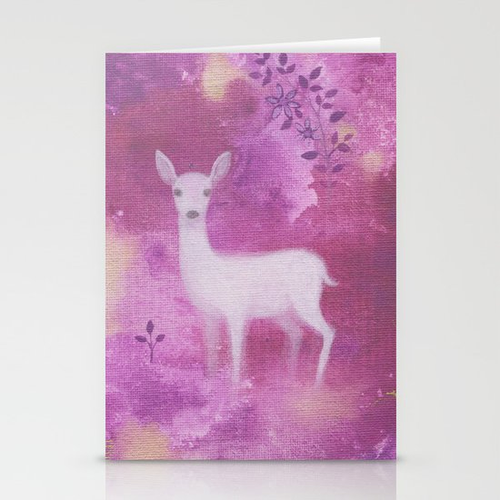 White Fawn Stationery Cards