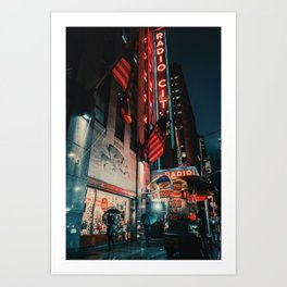 Radio City, NYC Art Print