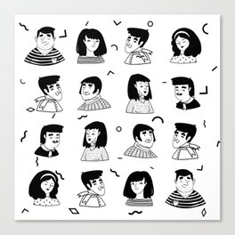 People Avatar | Pattern Art Canvas Print
