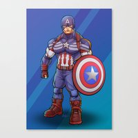 steve rogers Canvas Prints featuring Steve Rogers by Levi Cleeman