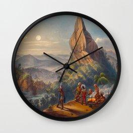 Ataraipu Or The Devil's Rock Illustrations Of Guyana South America Natural Scenes Hand Drawn Wall Clock
