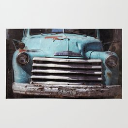 Chevy, Baby Blue Truck Rug