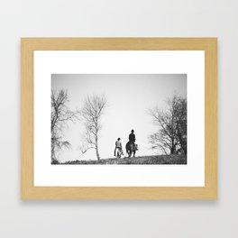 Horse Riders Framed Art Print