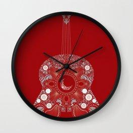 Roja es mi pasion Wall Clock