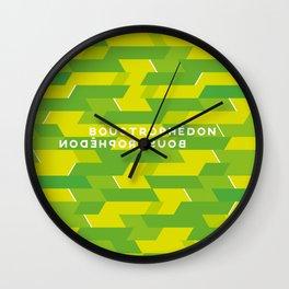 Boustrophédon Wall Clock