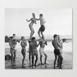 Vintage Beach Party 1 Canvas Print
