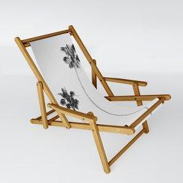 Black & White Palms Sling Chair