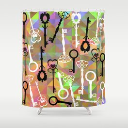 key pattern Shower Curtain