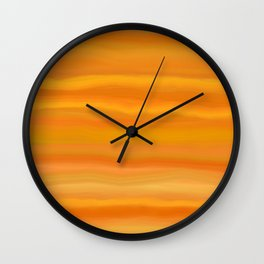 Gold Delights - Agate Gemstone Slice Abstract Wall Clock