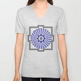 108 Evil Eye Sri Yantra Unisex V-Neck