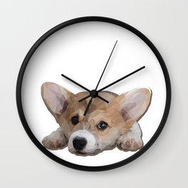 Daydreaming Corgi Wall Clock
